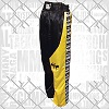 FIGHTERS - Kick-Boxing Hosen / Satin / Schwarz-Gelb / Small