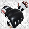 FIGHTERS - MMA Handschuhe / Cage Fight / Schwarz-Weiss / Large