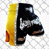 FIGHTERS - Thaibox Shorts / Elite Muay Thai / Schwarz-Gelb / Large