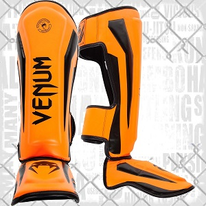 Venum - protège-tibia / Elite / Orange-Noir / Large