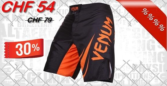 Venum - Fightshorts MMA Shorts / Challenger / Noir-Orange